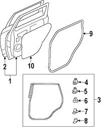Genuine mitsubishi door w'strip retainer mit 5725a064