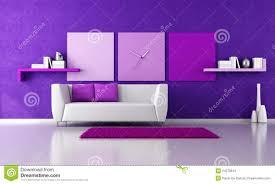 Purple Living Room Minimalist Purple Livingroom Stock Photos Image 24078813