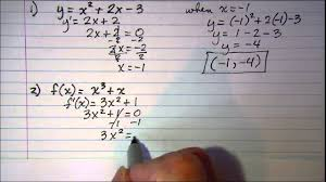 determining the point where graph has a horizontal tangent line you