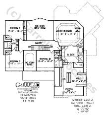 house plans with a view. Park View House Plan 00235,2nd Floor Plans With A E