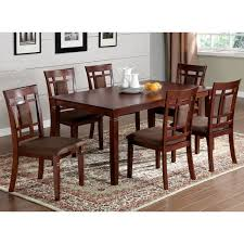 Shop Furniture of America Mulani 7-piece Dark Cherry Dining Set - On Sale Free Shipping Today Overstock.com 6604987