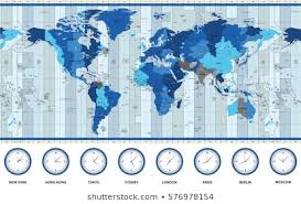 Map Of World And Time Zone Images Stock Photos Vectors
