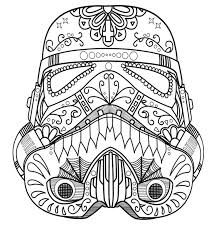 Small Picture Dark Vader Sugar Skull Coloring Page AZ Coloring Pages BYOS