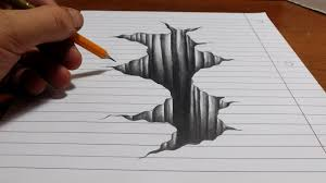trick drawing amazing 3d painting on paper trick art on line paper drawing 3d hole you 3d drawings for beginners