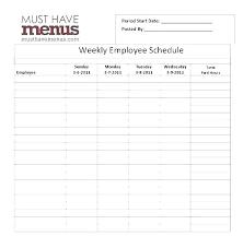 Server Schedule Template Restaurant Server Schedule Template
