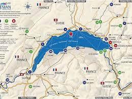 Anti wto karten genfersee / lausanne karte vom genfer see   merian schweiz foto karte: Interaktive Tourist Karte Rund Um Den Genfersee Frankreich Schweiz