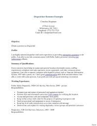 Dispatcher Resume Collection Solutions Sample Resumes For Taxi