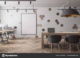 Meeting Room Wall Design Modern Meeting Room Interior Empty Billboard Wall Wooden