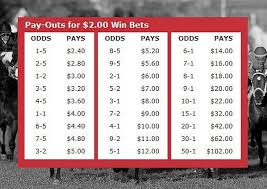 Odds Payout Chart Odds Payout Chart