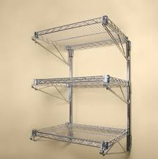 wall mounted wire shelving. Image Of: Wall Mounted Wire Shelving Chrome