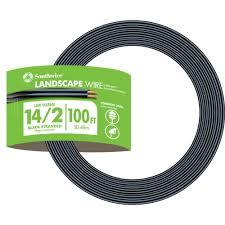14 2 black stranded cu low voltage landscape lighting wire