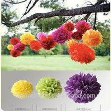 Hanging Paper Flower Balls 2014 Wholesale Artificial Paper Flowers Colorful Tissue Paper Pom Poms Hanging Flower Balls For Wedding Or Party Decoration Buy Wedding Or Party