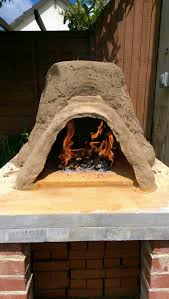 insulated pizza oven with straw