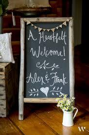 weddingstar self standing chalkboard sign with rustic wood frame