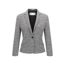 Patterned Blazer Womens Enchanting Womens BOSS Clothing Bouclé Jacket Katemika Patterned Easta Sazeh
