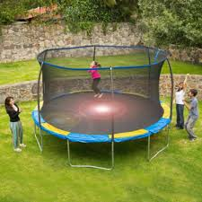 Bounce Pro 12 Trampoline With Flash Light Zone And Enclosure New Bounce Pro 12 Trampoline With Flash Light Zone And