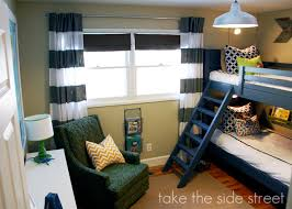 stripe-curtains-blue-bunk-bed-boys-bedroom-remodelaholic.