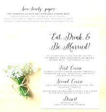 Wedding Bar Menu Template Wedding Drink Menu Templates Word Design