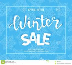 Winter Sale Banner, Poster, Flyer Template In Frame With Blue ...