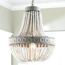wood bead chandelier pottery barn