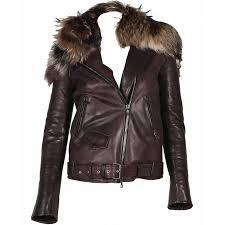 rihanna leather jacket with fur collar