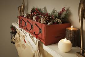 DIY Decor: Decorative Stocking Holder on a Rustic Mantel