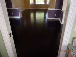 DIY Stained Brown Paper Floor Awesomeness Under 30 Do It Staining Hardwood Floors Black