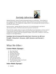 Proposal Letter Sankalp Advtiser