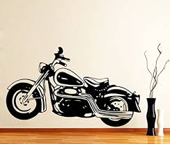 impression wall decor sticker bullet bike design cover area 36 x 21 inch on motorbike wall art australia with buy impression wall decor sticker bullet bike design cover area