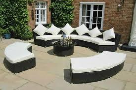 circular furniture. amber ultimate rattan garden circular curved sofa set sofa01 furniture t