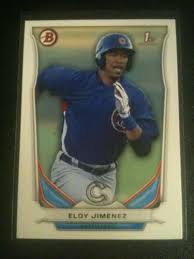 2019 bowman platinum eloy jimenez rc. Eloy Jimenez Baseball Card Database Newest Products Will Be Shown First In The Results 50 Per Page