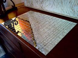 mirrored table place mats  cool stuff houston  mid century