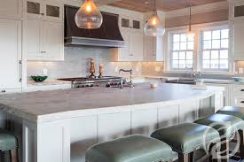 kitchen with curved island