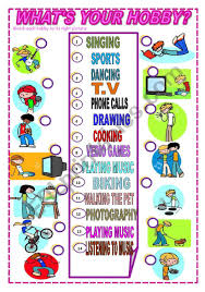 What Is Your Hobbies What S Your Hobby Esl Worksheet By Dana Dana