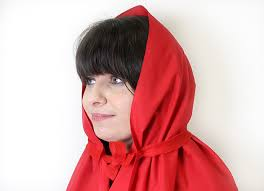 diy little red riding hood cape step 4