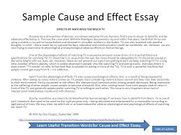 samples of cause and effect essays co samples