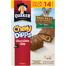 quaker chewy dipps chocolate chip granola bars 14 1 09 oz bars walmart