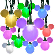 disney lighting 24 count 23 ft cascading multicolor christmas led plug in indoor