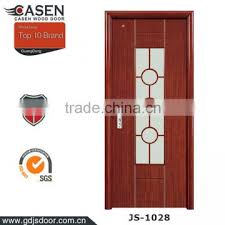 china supplier hdf pu paint room door glass insert wooden interior door solid wood bedroom door