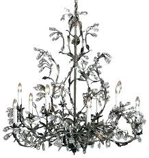 iron and crystal chandelier wrought iron crystal chandelier wrought iron chandelier with crystal rustic wrought iron
