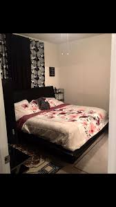 Dimora 5-Piece Queen Upholstered Bedroom Set with Media Dresser - Black for Sale in Sarasota, FL - OfferUp