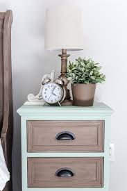 Image Carrington Solna Two Tone Nightstands Makeover Blesserhousecom Plain Nightstands Get Colorful Two Tone Blesser House Two Tone Nightstands Makeover Blesser House