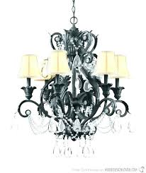 wrought iron crystal chandelier chandeliers lighting country large antique bronze