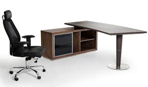 vig modrest lincoln modern office desk side storage cabinet in walnut alaska black oak office desk