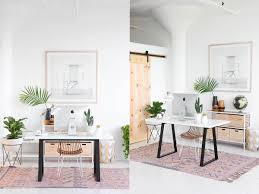 home office interior design. A Good Dose Of Botanical Influence Works Terrifically With White And  Woodtone Too. Introduce A Healthy Collection Indoor Plants To Your Desk Area, Home Office Interior Design