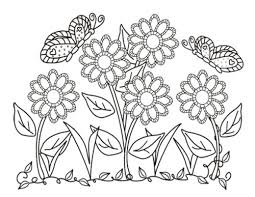 Small Picture flower and butterflies coloring pages picture 14 printable