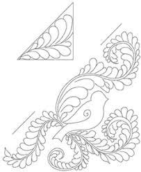 Bird Feather Quilting Motif – Ivory Spring & nov09_bonuspattern Adamdwight.com