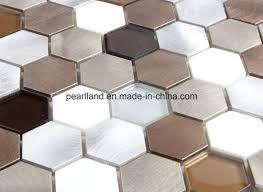 aluminum mosaic tiles stone tile matel glass tiles decoration kitchen backsplash bathroom mosaic wall tiles acshnb4001