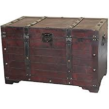 large wooden storage chest. Vintiquewise Antique Cherry Large Wooden Storage Trunk Intended Chest