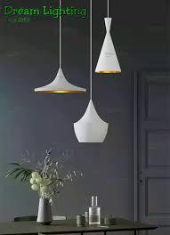 dream lighting set of 3 round base white nordic pendant